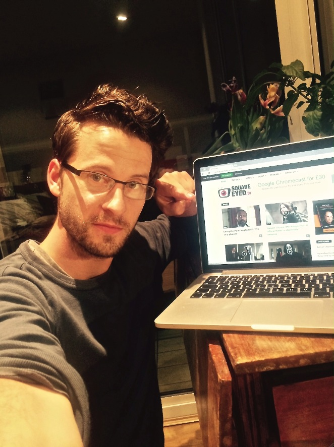 Robert with his new favourite website, SquareEyed.